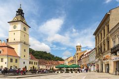 The Council Square, Brasov, Romania Royalty Free Stock Photo