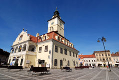 Council Square of Brasov, in Transylvania, Romania Stock Photo