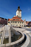 Council Square of Brasov, in Transylvania, Romania Stock Images