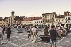 Council Square in the city of Brasov Stock Image