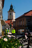 Council Square. Main street in Brasov City durring spring Stock Images