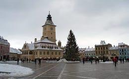 The Council Square Piata Sfatului Brasov, Transylvania Stock Image