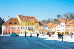 Council Square or Piata Sfatului in downtown of Stock Photography
