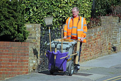 Council street cleaner operator Stock Image