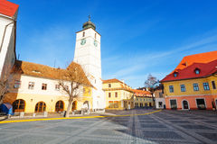Council Tower and Piata Mare (Large square) view Stock Photography
