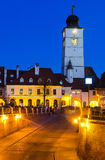 Council Tower at twilight, Sibiu, Transylvania Stock Images