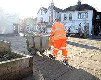 Council town worker Stock Photo