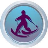 counrty交叉徽标滑雪 免版税库存照片