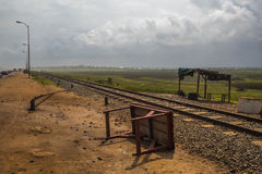 Counrty-Leben in Ghana (West-Afrika) Lizenzfreie Stockfotografie