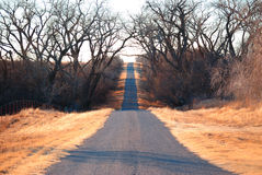 Country Road. County road in rural Oklahoma Stock Image