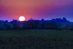 Counrtyside Sunset Scene Stock Photography