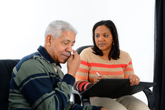 Counseling. Person in need having a counseling session royalty free stock image