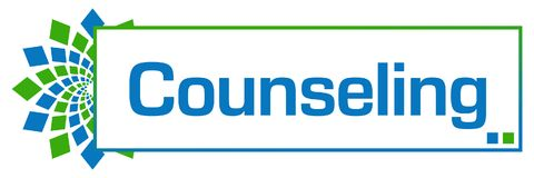 Counseling Green Blue Circular Bar. Counseling text written over green blue background Royalty Free Stock Image