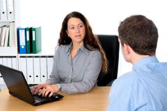 Counseling interview Stock Images