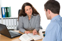 Counseling interview Royalty Free Stock Photo