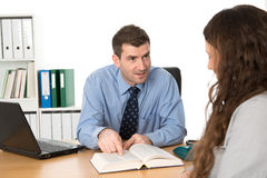 Counseling interview Stock Photo