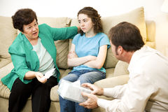Counseling Series - Worried Mother royalty free stock photography