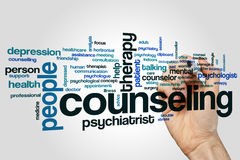 Counseling word cloud concept on grey background Royalty Free Stock Image