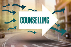Counselling against new york street Stock Photography