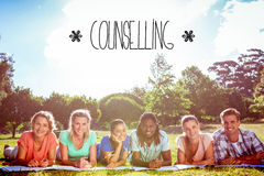Counselling against students studying outside on campus Stock Photos
