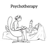 Counselling and assistance of a psychologist. Patients problem Stock Photo