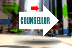 Counsellor against new york street Stock Photo