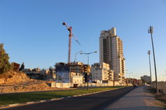 Counstruction site in Beer Sheva, israel Royalty Free Stock Photos