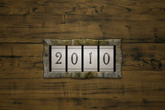 Count 2010. 3D illustration, steam punk styled mechanical counter Royalty Free Illustration