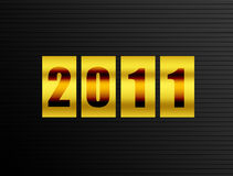 Count 2011. 2011 new year counter over black  background. Illustration Royalty Free Stock Image