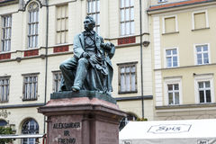 Count Aleksander Fredro monument in Wroclaw Royalty Free Stock Photography