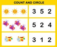 Count and circle. Illustration vector royalty free illustration