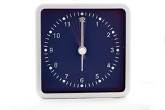 Count down. Clock with second hand ticking in slow motion stock photography