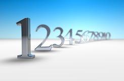 Count-down der Zahl 3d stock abbildung