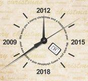Count-down des neuen Jahres stock abbildung