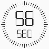 Count down digital timer on white background. Vector stock illustration