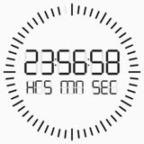 Count down digital timer on white background. Vector royalty free illustration