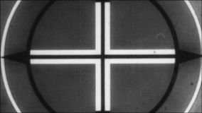 Count-down Film-Führer-Picture Start Ends 8mm 16mm Schwarzweiss stock abbildung