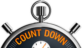 Count down. High resolution 3d rendering of a count down concept royalty free illustration