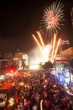 Count down New year 2012 in Bangkok,Thailand. Royalty Free Stock Photos