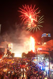 Count down New year 2012 in Bangkok,Thailand. Stock Photo