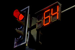 Count down watch and red light time Royalty Free Stock Photo