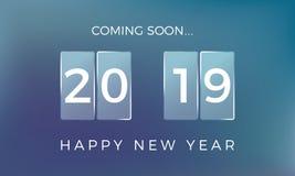 Count-down zum neuen Jahr Guten Rutsch ins Neue Jahr 2019 Auch im corel abgehobenen Betrag stock abbildung