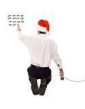Count-down zum Weihnachten und zu den Feiertagen Stockfotos
