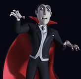 Count Dracula. 3d cartoon halloween count Dracula Royalty Free Stock Images