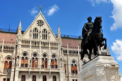 Count Gyula Andrassy Statue, Budapest. Hungary Royalty Free Stock Photo