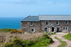 Count House, Carn Galver. The Count House of Carn Galver tin mine in Cornwall. Other names Wheal Rose, Rosemergy royalty free stock image