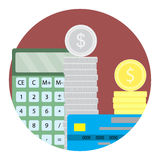 Count money capital icon vector. Finance investment and currency deposit illustration Royalty Free Stock Image