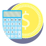 Count money flat icon Stock Images
