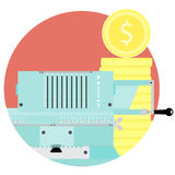 Count money flat icon vector Royalty Free Stock Photo