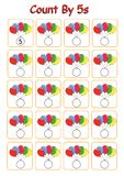 Count by 5s practice worksheet, write the missing numbers,. Fun activity royalty free illustration